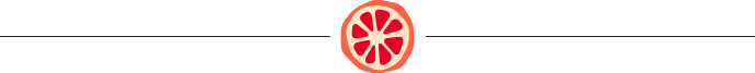 horizontal line with icon of a cartoon sliced grapefruit in the middle
